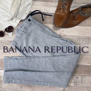 Banana Republic Men's Linen Blend Drawstring Pants